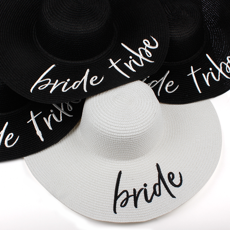 New Bride Tribe Beach Wedding Floppy Mrs Sequin Sun Hats Just Married Drunk in Love Honeymoon Bridal Party Gifts Favors