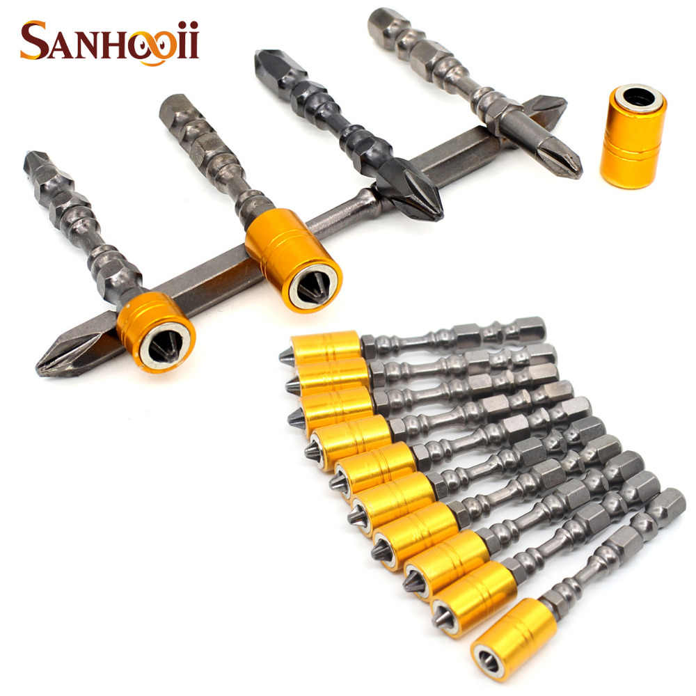1//4 Inch Magnetic Angle Bits Driver Screwdriver Holder with Cross Phillips Screw