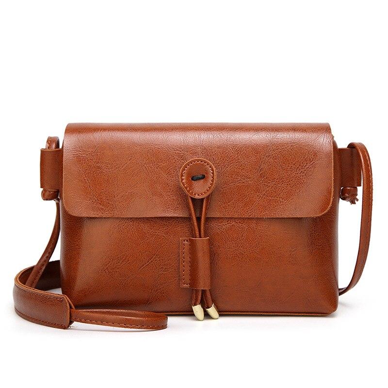 Vintage Women Fashion Casual Shoulder Bags Small Crossbody Messenger Bag Handbags designer handbags Button