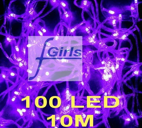 Purple 100 LED 10M christmas wedding String Fairy Lights Christmas led light,100pcs/lot,free shipping