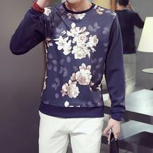 2016 Spring New font b Men b font Hoodie Long Sleeved Sweatshirts Printing Style Hip Hop