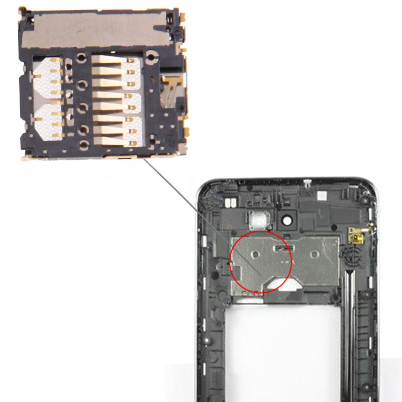 Mobile Phone SIM Card Slot + Sim Card Connector for Galaxy Note i9220