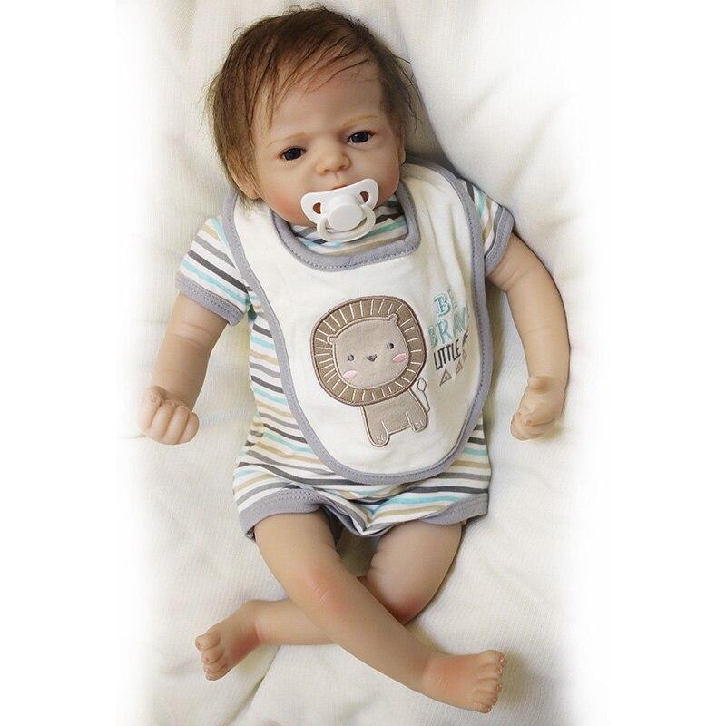 22 นิ้วตุ๊กตาทารกซิลิโคน Reborn ทารกตุ๊กตาทารกแรกเกิดของเล่นเด็กตุ๊กตา Handmade เด็กวัยหัดเดินตุ๊กตาเสื้อผ้าของขวัญเด็ก-ใน ตุ๊กตา จาก ของเล่นและงานอดิเรก บน   3