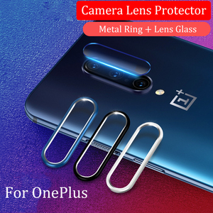 Glass For OnePlus 8 7 Pro 6T 6 7T Screen Protector Tempered Glass On For One Plus 6T 7 Camera Lens Protective Glass & Ring Cover(China)