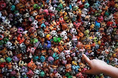 MINI Doll Lot 20 ADET Littlest Pet Shop Köpek Gevşek Çocuk Kız Oyuncak LPS Hediye