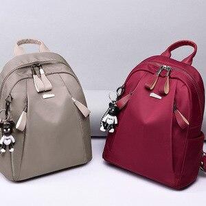 Image 3 - Женский водонепроницаемый рюкзак Mochilas mujer, повседневный рюкзак из ткани Оксфорд для путешествий, 2019