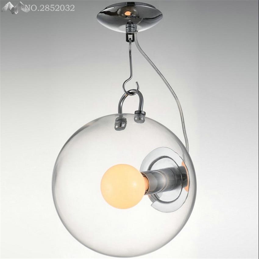 Modern Industrial Vintage Pendant Lights Glass Lamp Shade E27 Holder Pendant Lamp for Living Room Restaurant Bar Home Lighting
