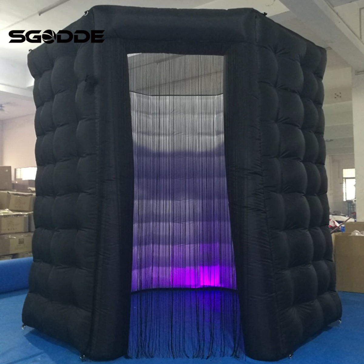 SGODDE 110V 8 LED Color Strip Inflatable Photo Booth Enclosure Octagon Tent Event Wedding Party free shipping oxford material wedding party decoration inflatable the photo booth