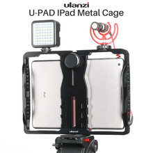 ULANZI U-Pad Metal Video Cage Mount Vlog Filmmaking Rig for iPad Pro/Air/Mini with Mic Cold Shoe Lecture Broadcast Recording