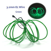 NEW DC 3V Drives 3 2mm 10M Flexible EL Wire Glowing Rope Cable Strip Waterproof Neon