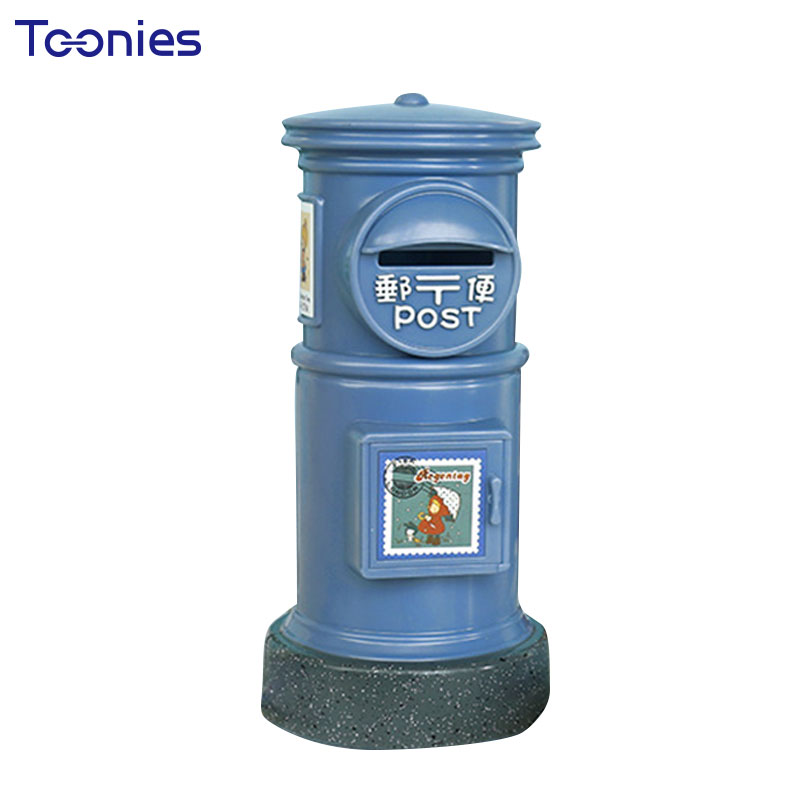 Mini Post Office Piggy Bank Retro Creative English Mailbox Money Box Childrens Cartoon Coins Safe Saving Pots Sweet Child Gifts
