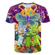 Brand Rick And Morty T Shirt Anime Men Short Sleeve T-shirt Harajuku Summer Chinese 3d Printed Hip Hop Tee 11 Style 5XL