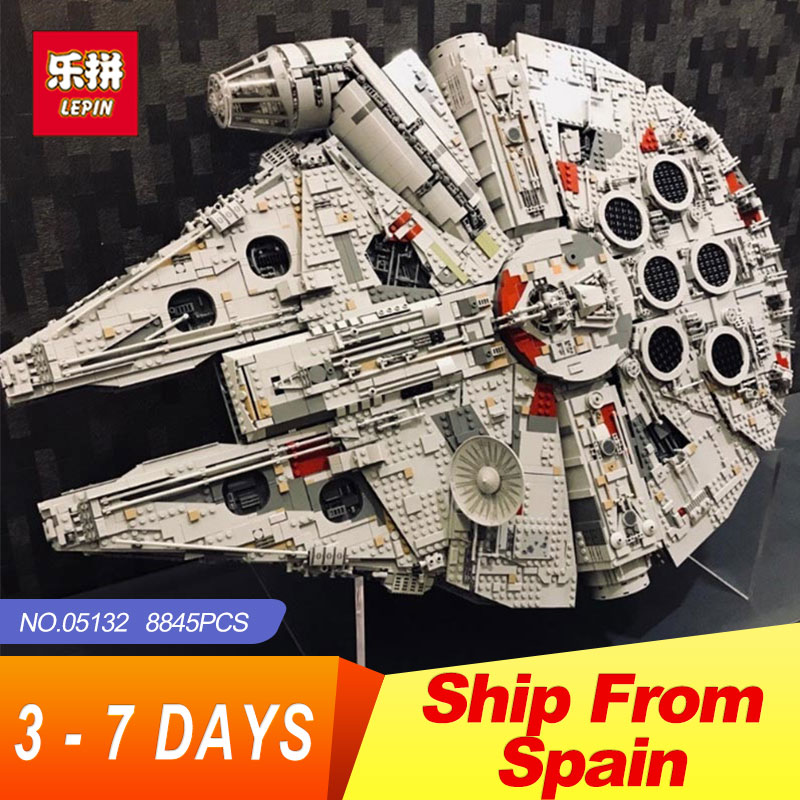Lepin 05132 Star Destroyer Millennium Falcon LegoINGs 75192 Briques Modèle blocs de construction jouets éducatifs WARS