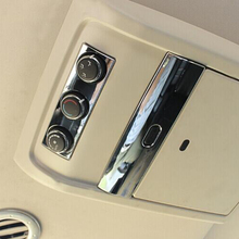 ABS Chrome Car Top TV Switch cover trim fit for dodge journey fiat freemont 2013 2014 2015 2016 car styling
