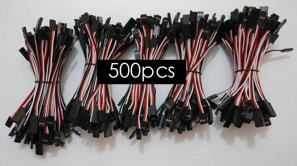 500 шт./лот 100 мм JR FUTABA вилки, соединяющей сервоприводы кабели 10 см прямой провод кабеля для Drone Servo расширение провода