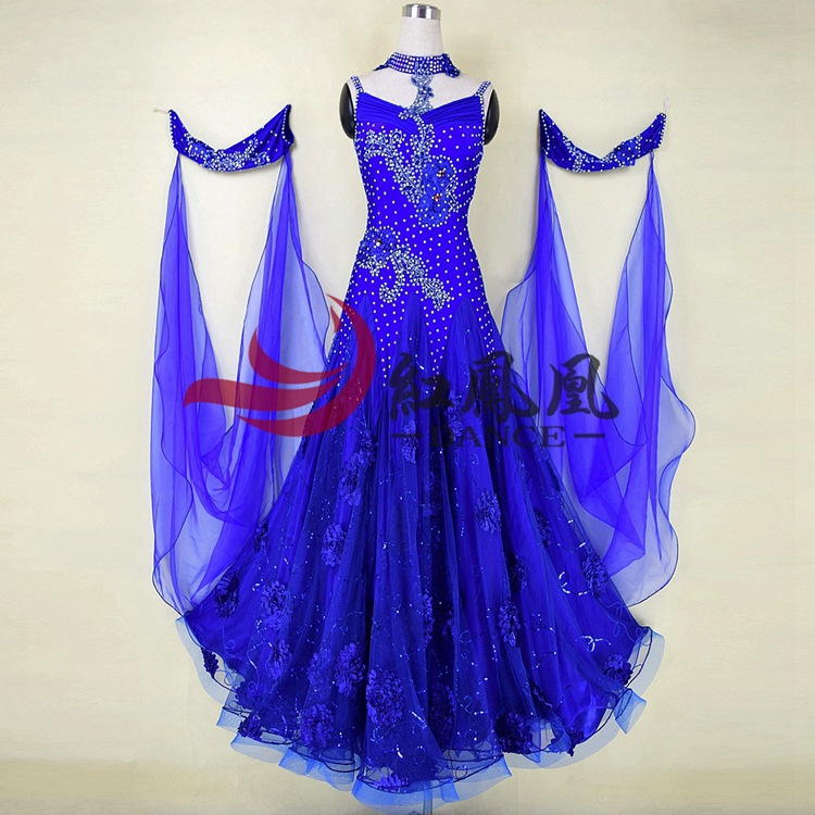 High-end Yellow International Standard Ballroom Smooth Dance Competition Dress, /Ballroom Standard Tango Waltz Dance Dress