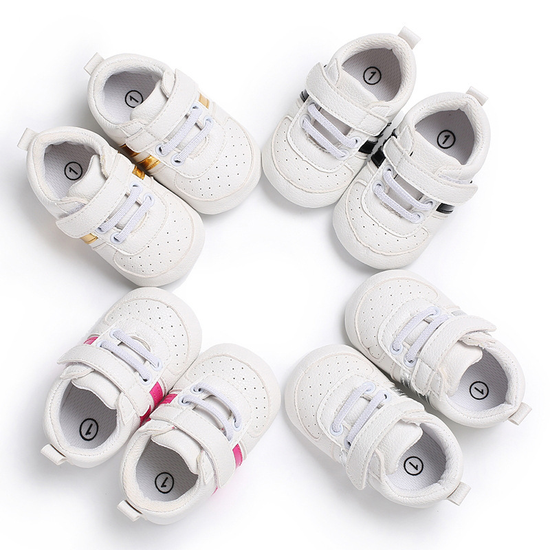 Baby Boys Girls Leather Shoes White Cute Newborn Infant Toddler Crib Shoes Baby Moccasins Floor First Walkers TS128