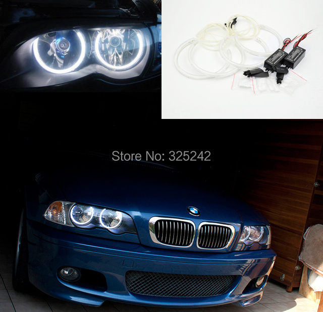 for bmw e46 sedan facelift 2001 2005 excellent angel eyes kit ultra bright headlight. Black Bedroom Furniture Sets. Home Design Ideas