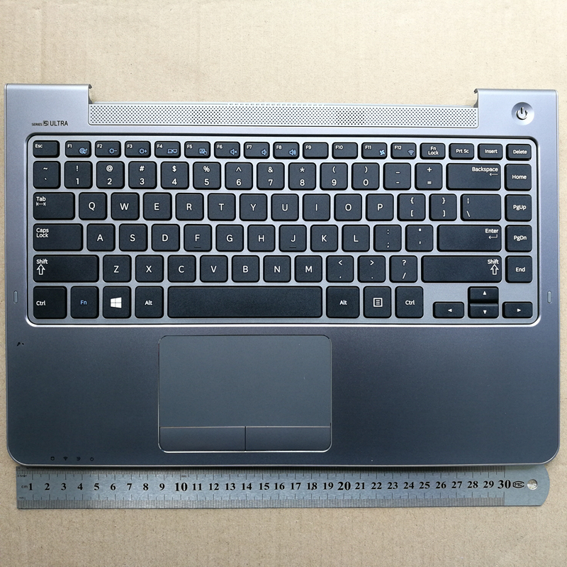 US new laptop <font><b>keyboard</b></font> with touchpad for <font><b>samsung</b></font> NP530U4B 530U4B 530U4C NP535U4B 535U4C 535U4X NP532U4C <font><b>NP530U4C</b></font> BA75-04038A image
