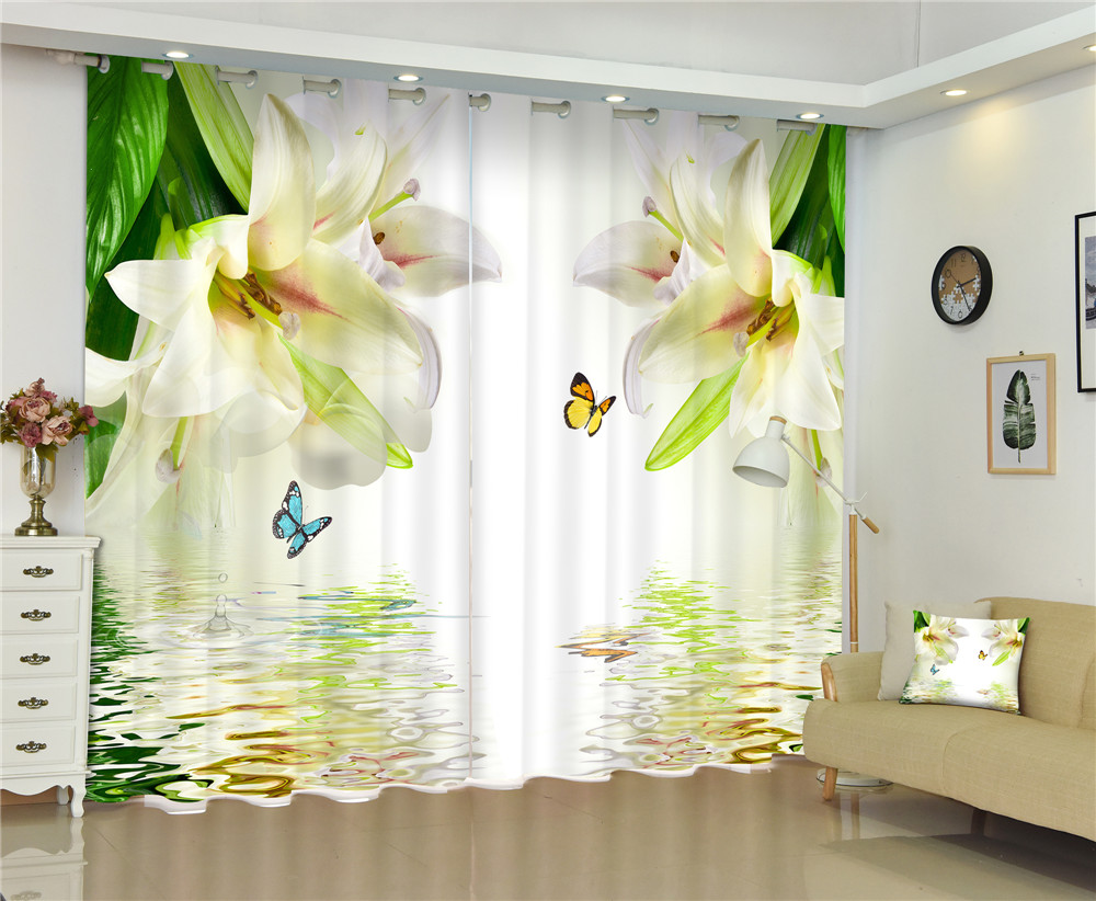 Curtain Luxury Blackout 3D Window Curtains For Living Room