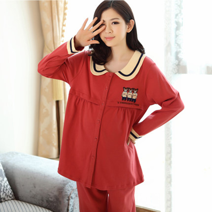 Mother's Breastfeeding Clothing Maternity Nursing Pregnancy Clothes Long Sleeve Cotton Cute Pregnant Clothes Winter 704994 2017 summer long sleeve maternity nursing tops pregnancy breastfeeding sweater clothes for pregnant women wear feedding clot