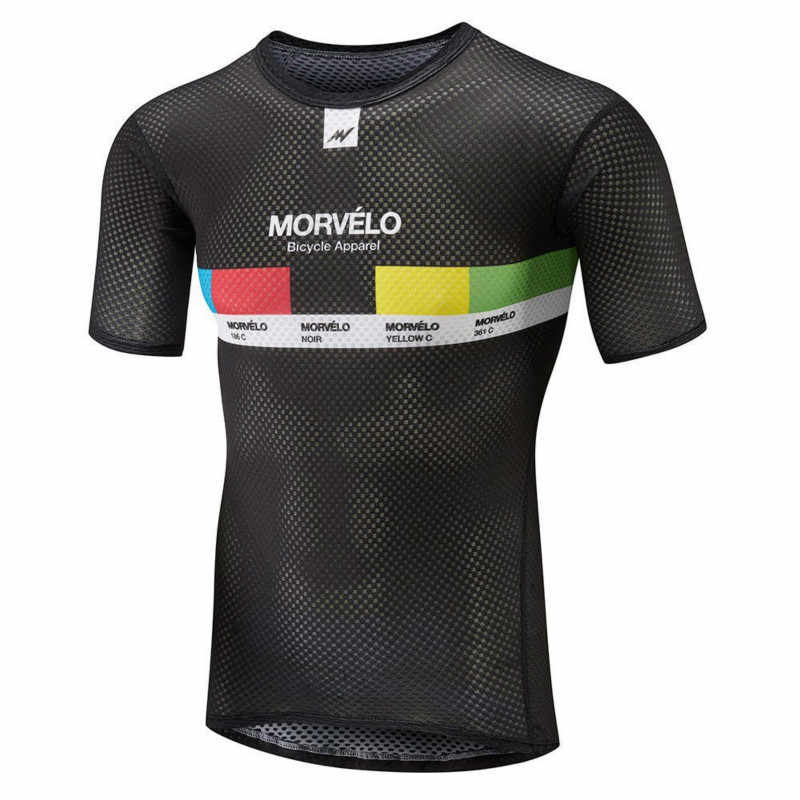 Morvelo Men s Quick Dry High Quality Technical Mesh Base Layer With High  Stretch Short Sleeve Cycling 0441a06c0