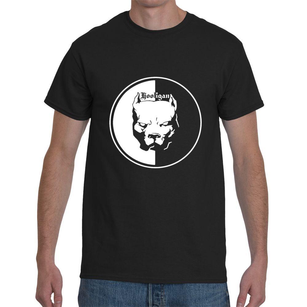 Новый хулиган питбуль короткий рукав черный Для мужчин футболка Размеры S-3XL с круглым вырезом футболки Мужской низкая цена стимпанк