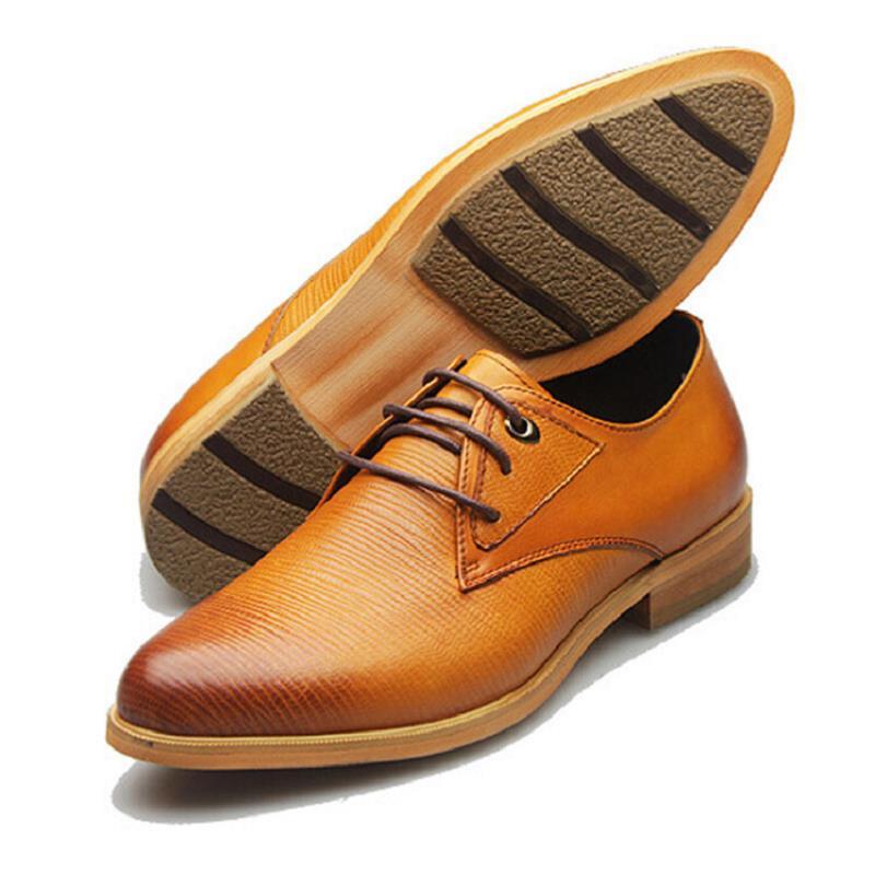 Inglaterra Sociais Derby Negócio Sapato Marca Couro Formal Casamento Se Sapatos Pretos Apartamentos De amarelo Preto Vestem Northmarch Estilo Os Homens 0TWT4q