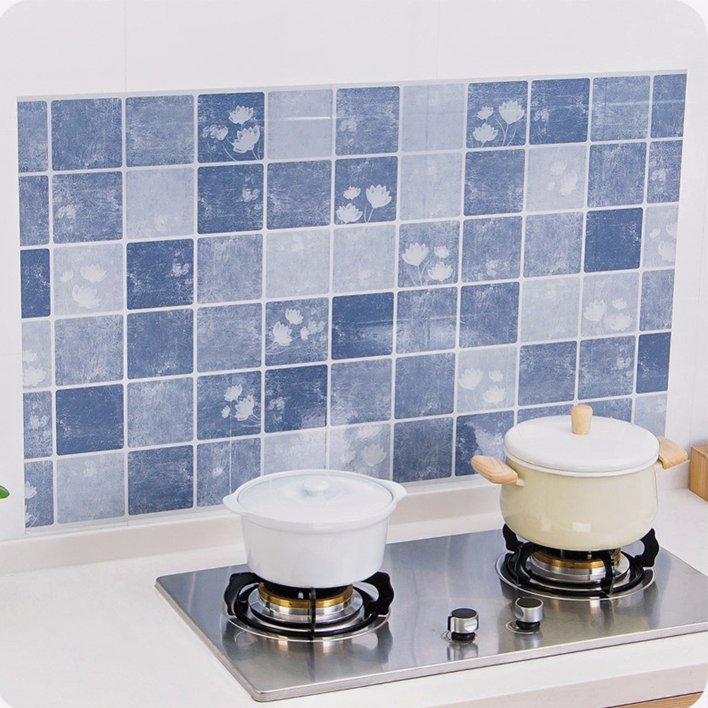 PVC Private Kitchen oil proof Self adhesive Mosaic Tile Style ...