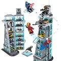 Строительные блоки Zhenwei SuperHeroes Ironman Marvel  башня-мститель  строительные блоки SH678
