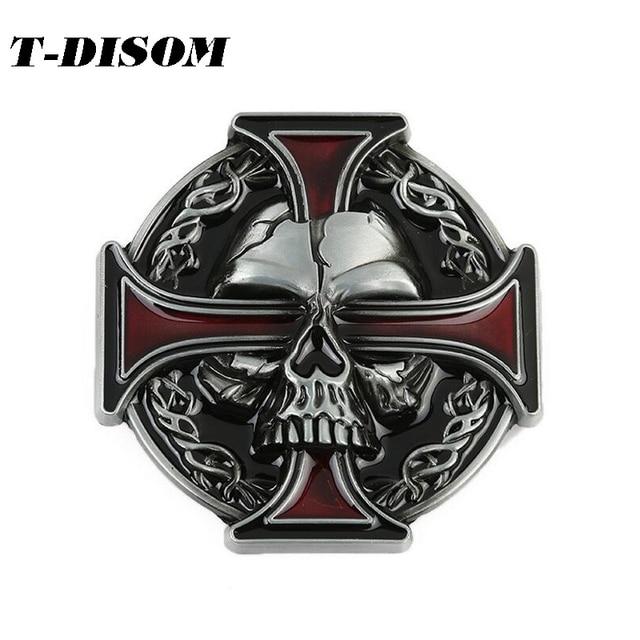 5d7e5f618fd4 T-Disom Croix Celtique Boucles De Ceinture de mode Crâne boucles pour  hommes ceinture vente