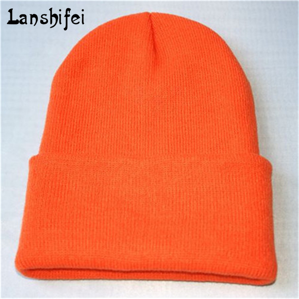 Winter Warm Hats Unisex Knitting Women Men Wool Fluorescence Color Solid Elastic Beanie Hedging Hat 18 Colors 2017 new wool grey beanie hat for women warm simple style bad hair day knitting winter wooly hats online ds20170123 x24