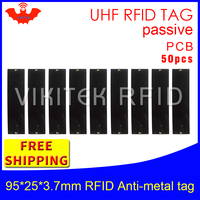 UHF RFID anti metal tag 915m 868m 50pcs free shipping fixed assets management 95*25*3.7mm big rectangle PCB passive RFID tags