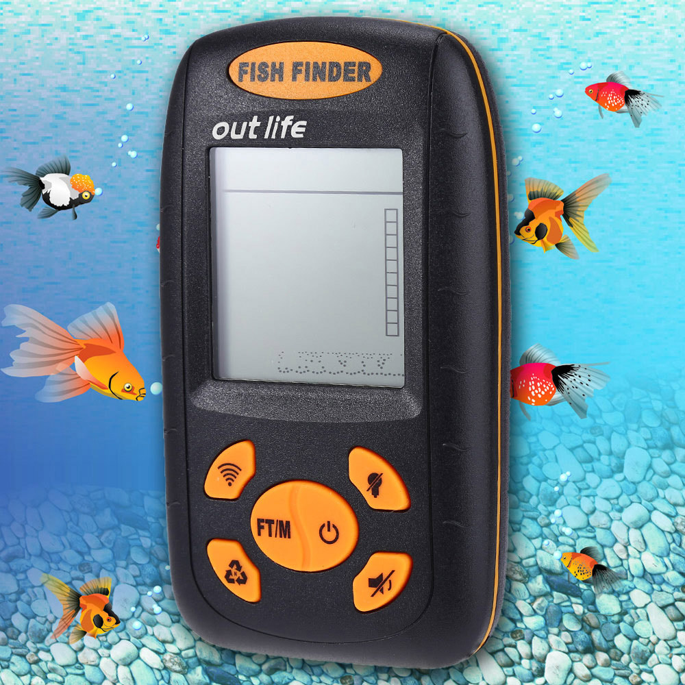 XF-01 Portable Sonar LCD Fish Finder Wire Alarm 100M Fishing Finders Tackle Ocean River Sea Lake fishing Echo SounderXF-01 Portable Sonar LCD Fish Finder Wire Alarm 100M Fishing Finders Tackle Ocean River Sea Lake fishing Echo Sounder
