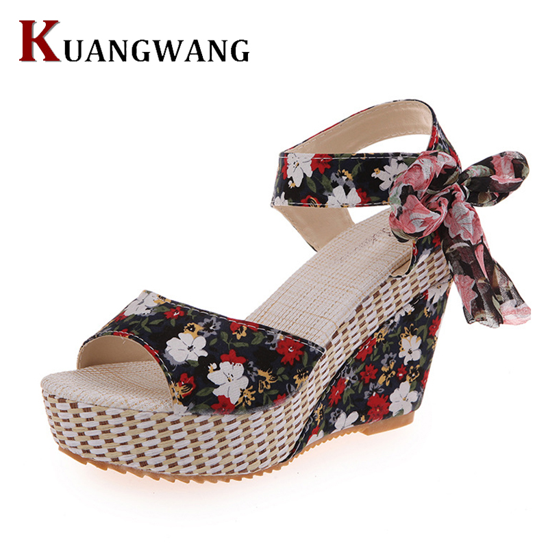 New Arrival Ladies Shoes Women Sandals Summer Open Toe Fish Head Fashion Platform High Heels Wedge Sandals Female Shoes Women e toy word summer platform wedges women sandals antiskid high heels shoes string beads open toe female slippers