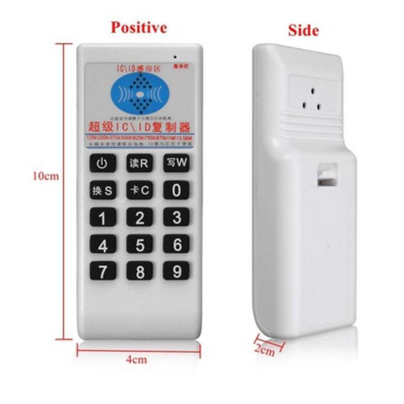HTB1 n6MXsvrK1Rjy0Feq6ATmVXau Handheld 125Khz-13.56MHZ Copier Duplicator Cloner RFID NFC IC card reader & writer + 3pcs 125KHZ +3pcs 13.56MHZ cards