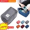 Convenient Travel Storage Bag Nylon 6 Colors Portable Organizer Bags Shoe Sorting Pouch multifunction