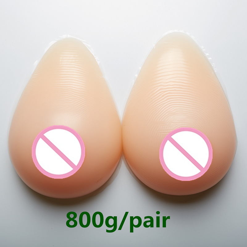 Crossdresser Silicone Breast 800g/pair C Cup Fake Boobs Drag Queen Breast Form Silicone Breast Prosthesis