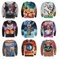 Juventud moda de alta calidad primavera y otoño fina camiseta de los niños grandes divertido 3d gatito de jogging impresión camisa del muchacho 15-20 años de La Camiseta