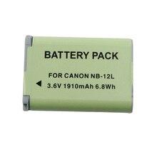 1910 mAh NB-12L NB12L NB 12L caméra batterie pour Canon PowerShot G1 X Mark ii, G1x Mark 2, Pour PowerShot n100, Vixia mini X