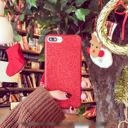 Bling glitter case for iPhone 7 6 6S Plus Slim Soft TPU Shiny Flash Powder Cover Black Pink Gold Purple Red Silver