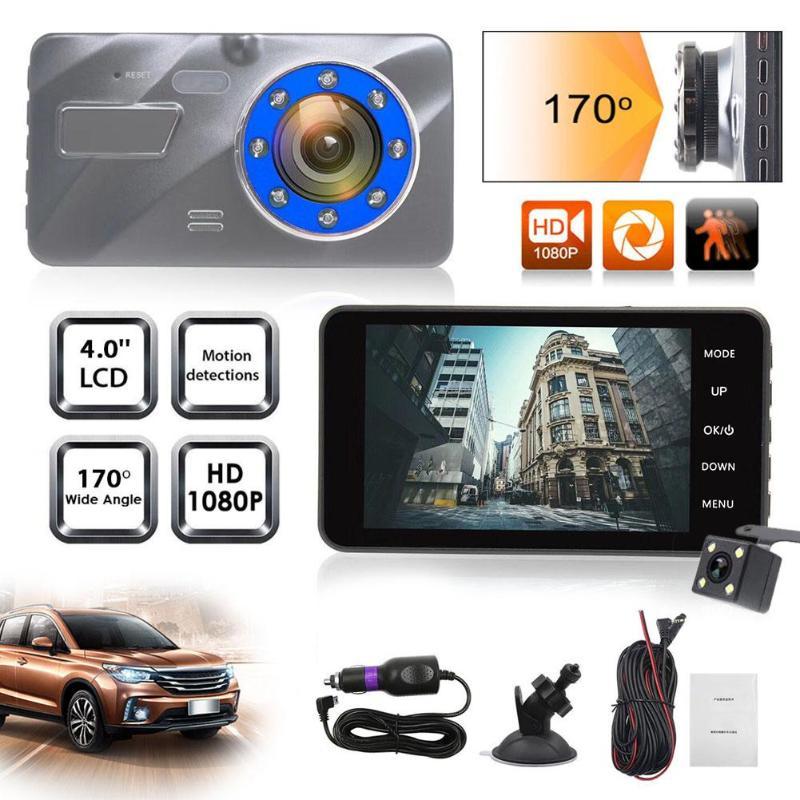 4.0 LCD 1080P Car DVR Camera Dual Lens Digital Video Recorder Registrator Infrared Night Vision Dash Cam Auto Camcorder