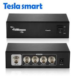 HD SDI Splitter 1x4 Angetrieben Verstärker Splitter 4 weg SDI HD verlustfreie signal verteilung zu 4 ausgang SDI splitter 1 in 4 out SDI