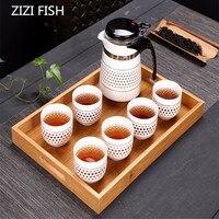 Ev ve Bahçe'ten Çay Takımı Setleri'de Drinkware kahve ve çay takımları seramik demlik su ısıtıcısı Drift Pot bardak puer çay Tepsileri Teaware çin kung fu çay seti
