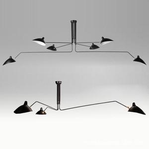 Lámparas de techo Retro nórdico Multi cabezas modernas tiendas restaurantes diseñador creativo luz de techo para Decoración