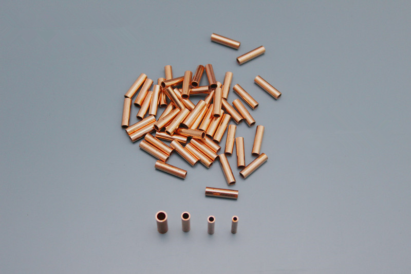 100PCS All Copper Pipes/Small Brass Copper Tube Silicone Electric Wire Binding Post For Carbon Fiber Heating Wire