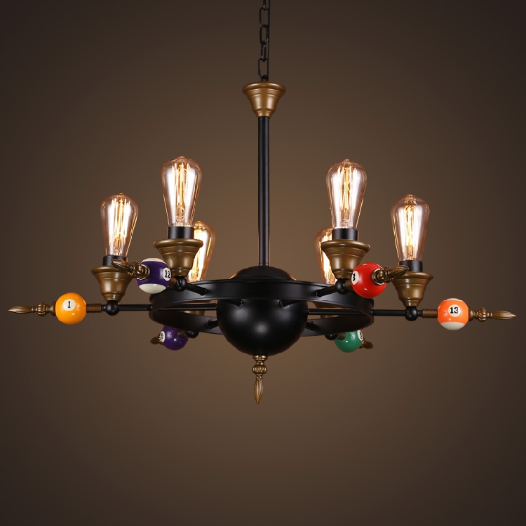 Billiards table tennis pendant lights bar cafe restaurant living room home decoration retro industrial pendant lamps ZA GY245