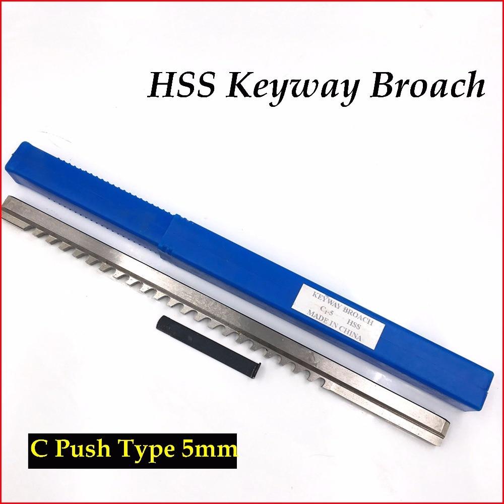 5mm Keyway Broach C1 Push-Type Metric Size With Shim HSS Broach Cutting Tool For CNC Machine