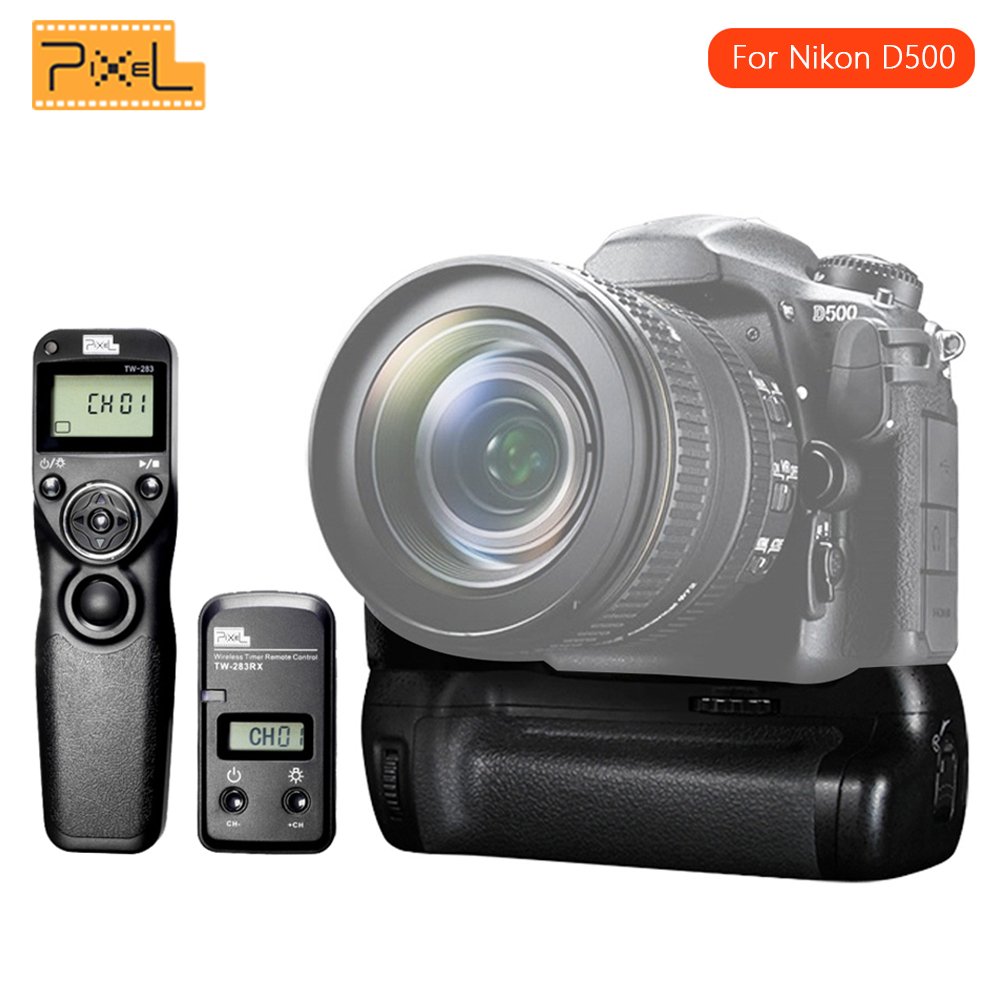 Consumer Electronics Motivated Pixel Vertax D17 Battery Grip D-17 For Nikon D500 Dslr Cameras Pixel Tw-283/dc0 Wireless Timer Shutter Release For Nikon Diversified Latest Designs Camera & Photo Accessories
