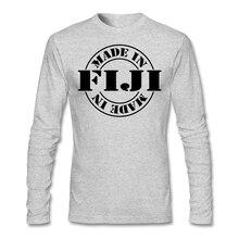 Long Sleeve Crewneck Cotton Made in fiji Shirt Men Male Geek Large Size Party Backing T-shirts